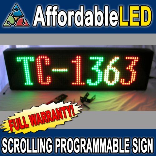 """Programmable Scrolling Led Sign - Indoor Display 13""""H X 63""""L X 3 1/2""""D (Color: Red, Green, Amber)"""