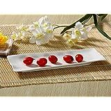 長皿(12号デザイン皿)/おうちカフェ/業務用食器/寿司皿/すし皿/さんま皿/白食器
