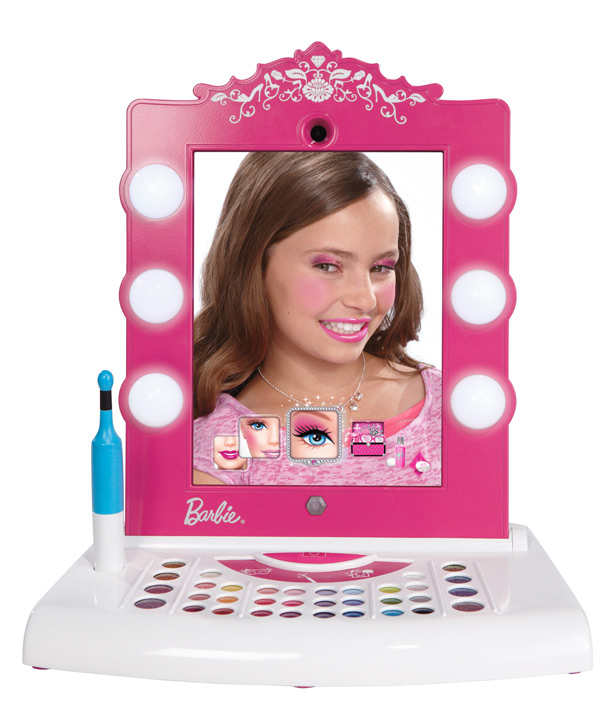 Barbie Digital Makeover Mirror By Mattel Makeup Vanity