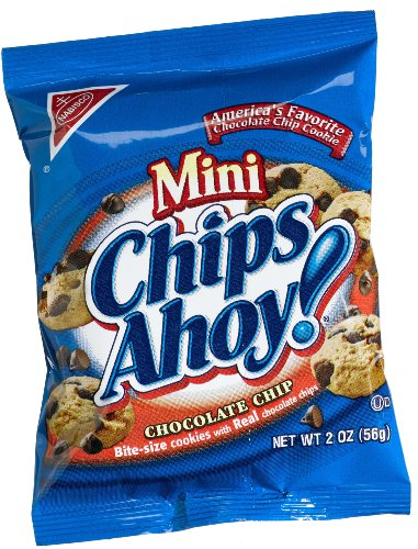 Chips Ahoy! Chunky Chocolate Chip Cookies, 2-Ounce Single Serve Packages (Pack of 60)