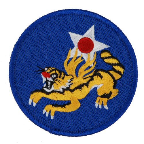 Generic Men's WW2 US Flying Tigers Air Force Embroidered Insignia Patch 3 X 3 BIue