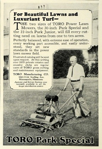 1929 Ad Toro Park Special Push Power Lawn Mower Park Jr. Model