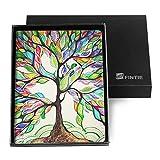 Fintie Passport Holder Travel Wallet [Retail Packaging] RFID Blocking - [Arts Series] PU Leather Passport Case Cover, Love Tree