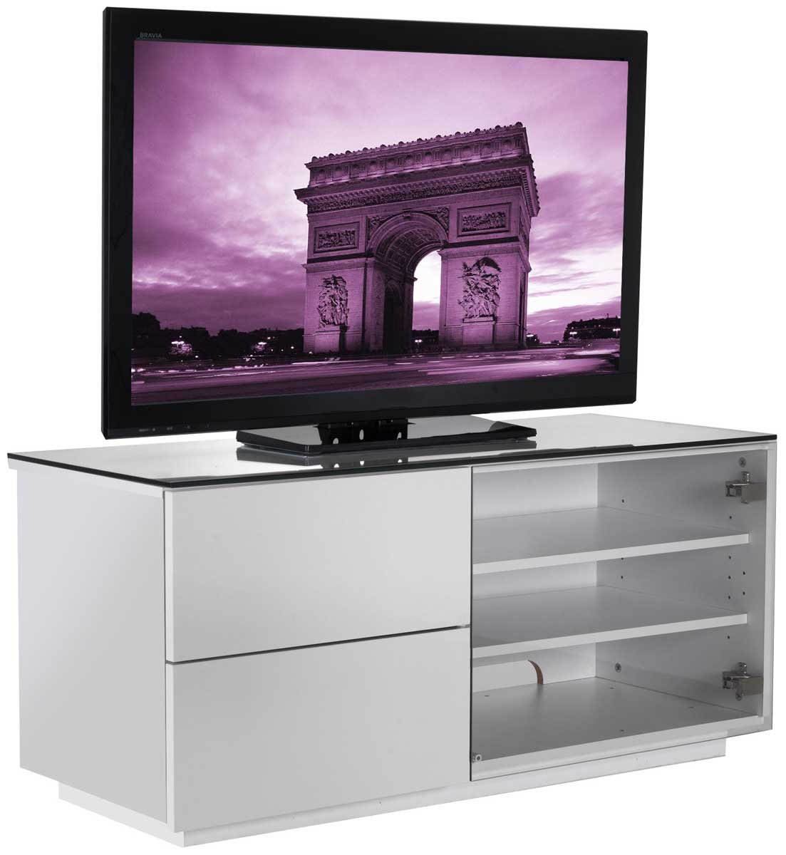 UK CF Paris White TV Stand for up to 50 inch       reviews