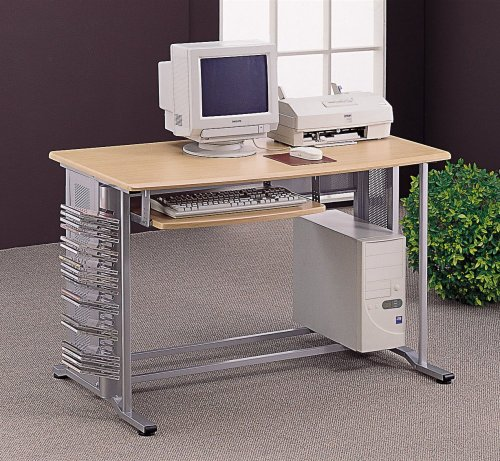 Buy Low Price Comfortable Coaster 7009 Wood / Aluminum Computer Desk (B001KWQ9D4)