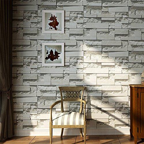 tapete wohnzimmer hell: , Wohnzimmer Tv Hintergrund Dekoration (Hell Grau) [Home Improvement