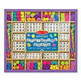 Melissa &amp; Doug Deluxe Wooden Stringing Beads with over 200 beads