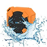 Amuoc Bluetooth Speakers, Portable IP65 Waterproof Outdoor/Shower Bluetooth Speaker Rugged Hi-Def Bass Sound with 10Hr Playtime Orange