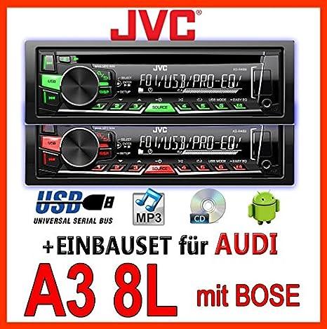 AUDI a3 8L jVC-kD-r469E-cD/mP3/uSB pour casque bose avec système de fixation
