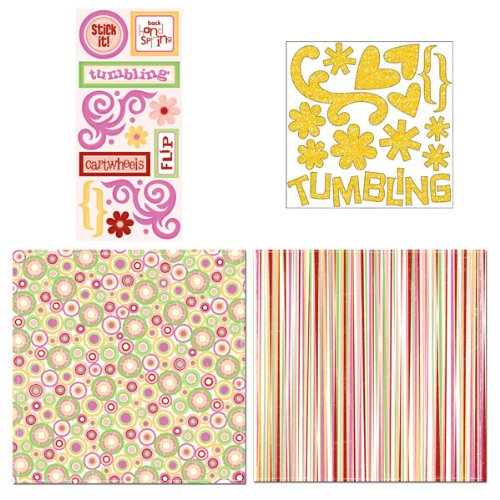 Scrapbook Customs - Sports Collection - 12 x 12 Page Kit - Tumbling