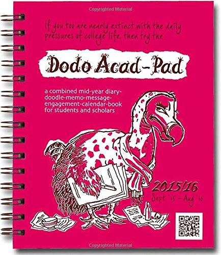 Dodo Mini Acad-Pad Pocket Diary 2015 - 2016 Week to View Academic Mid Year Diary (Dodo Pad)
