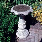 Garden Bird Bath - Classic Ornate Stone Birdbath Feeder