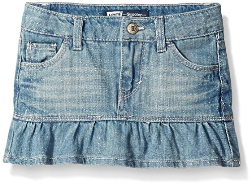 Levi's Toddler Girls Alessandra Denim Scooter, Blue Vibes, 4T