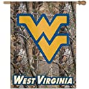 NCAA West Virginia Mountaineers 27-by-37-Inch Vertical Flag Real Tree