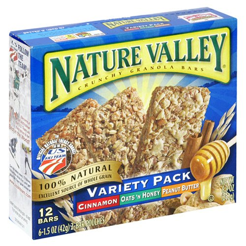 Nature Valley Crunchy Granola Bars, Variety Pack of Cinnamon, Oats 'n Honey,