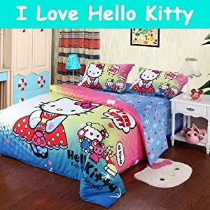 Amazon.com - Hello Kitty Queen Bedding Set, Hello Kitty Bedding ...