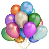 300 Assorted Color Party Balloons, 12 Inch Premium Quality Helium Balloons for Parties, Wedding, Birthday, Decoration and Events by IDAODAN . (Color: Assorted Color, Tamaño: 300PCS-12inch)