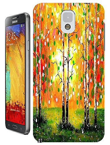 Lkpop Samsung Galaxy Note 3 N3 Cases / Covers Design With Beautiful Oil Paintings Trees Colorful Cell Phone Hard Case ( Color Orange )