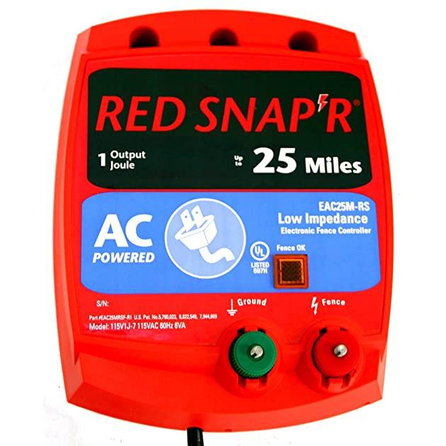 High Voltage Weeder : Red snap r eac m rs mile ac low impedence fence