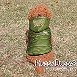 あったかコート エバーラスティングダウンジャケット(アーミーグリーン) Lサイズ ワンコ服 犬服 ドッグウェア HUGGY BUDDY'S ハギーバディーズ