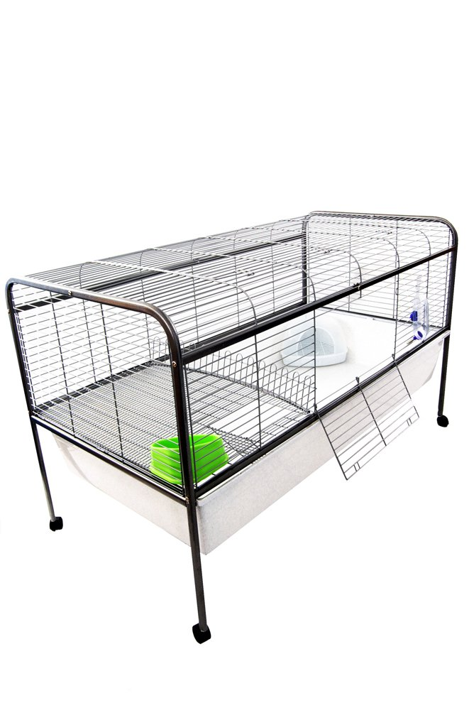 xl indoor guinea pig cage on wheels, 154 x 78 x 93 cm