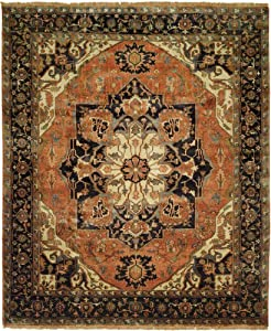 Jules Serapi Handknotted Area Rug 6x9