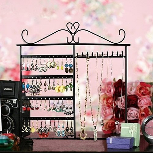 61XYsF%2BaCbL Traditional Black Jewelry Holder, Jewelry Stand for Earrings / Necklaces / Brecelets, Gift Thought
