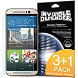 HTC One M9 Screen Protector - Invisible Defender [3+1 Free/MAX HD CLARITY] Lifetime Warranty Perfect Touch Precision High Definition (HD) Clarity Film (4-Pack) for HTC One M9