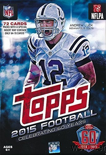 2015 Topps NFL Football Factory Sealed Hanger Box with 72 Cards including 13 Rookie Cards per box plus stars and inserts! PossibleRookies and Autographs of Marcus Mariota, Jameis Winston and Many Others (1000 Nfl Cards compare prices)