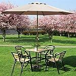 Outdoortips Parasol Sunshade Cream Ga...