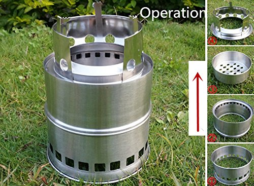 Fami portable stainless steel lightweight wood stove - Portable dishwasher stainless steel exterior ...