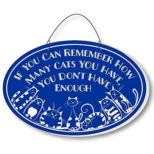 Cool Cats Cat-Gang Oval Laser-Etched 3-In-1 Plaques Not Enough Blue front-198575