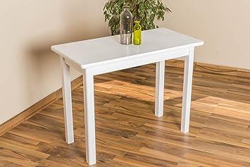 Esszimmertisch Esstisch 50x100 cm, Farbe: Weiß