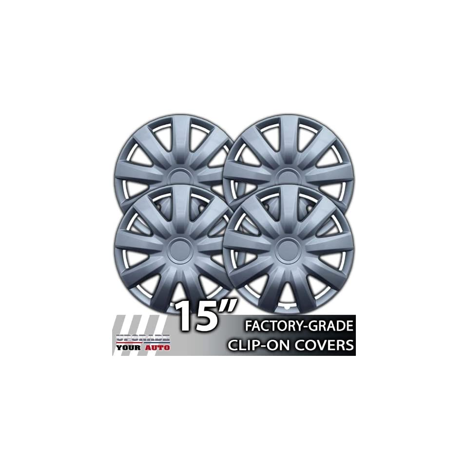 2004 2006 Toyota Camry 15 Inch Silver Metallic Clip On Hubcap Covers