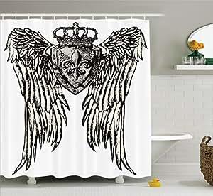 Ambesonne fleur de lis decor collection for Crest home designs curtains