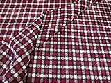 Tweed Fabric By The Metre - Selkirk Tweed Design in Red & Black