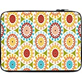 Snoogg Motif Design Green 10 To 10.6 Inch Laptop Netbook Notebook Slipcase Sleeve