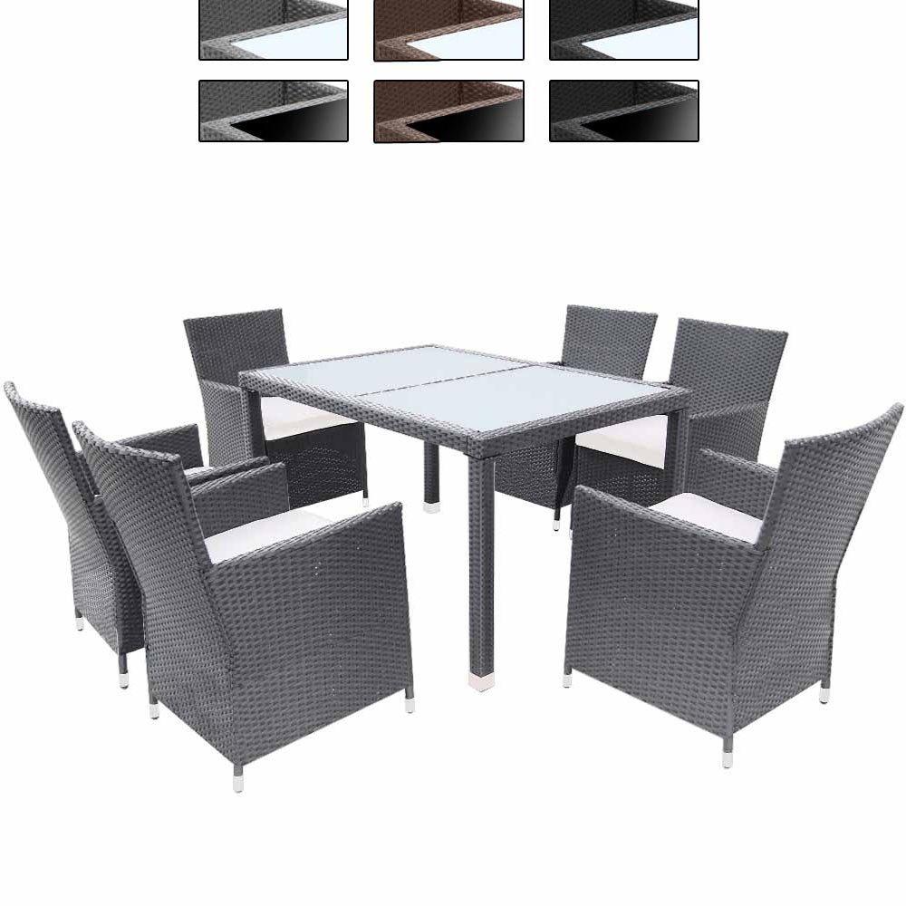 Elegante 13-teilige Polyrattan Sitzgarnitur Gartenmöbel Farb- Tischwahl mit Kissen kaufen