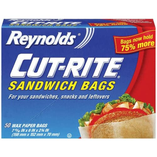 Amazon.com: Cut-Rite Wax Paper Sandwich Bags, 50-Count (Pack of 12)