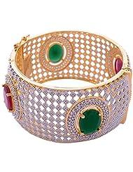 Goonj The Rhythm Of Jewels Fancy CZ Bangles For Women B56 (Size 2.4)