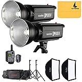 Godox DP600II 1200W GN80 Two 600w DP600II 2.4G Wireless X System Photography Studio Strobe Flash Light Power 110V Lighting Lamp Head,Godox XT-16 Flash Trigger
