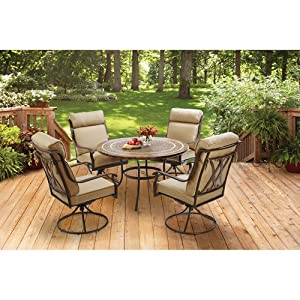 better homes and gardens bretton place 5 piece dining set seats 4 patio lawn. Black Bedroom Furniture Sets. Home Design Ideas