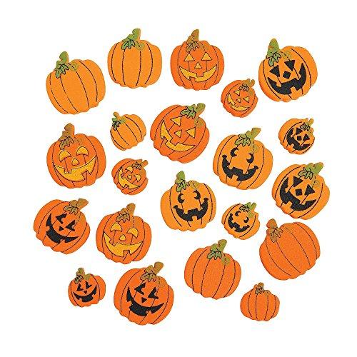 500 Pcs Foam Pumpkin Beads - Halloween Party Decorations - 1