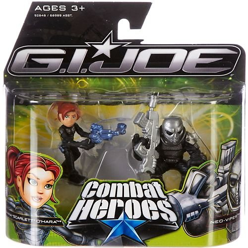 "G.I. Joe The Rise of Cobra Combat Heroes 2-Pack Shana ""Scarlett"" O' Hara & Cobra Viper"