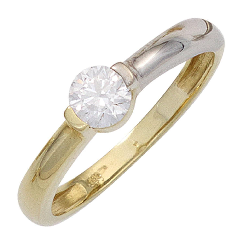 Krisma Bronchetty Damen Ring 333 Gold Gelbgold Weißgold bicolor 1 Zirkonia Goldring jetzt bestellen