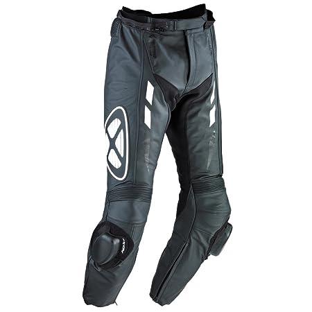Ixon - Addict Pant Pantalon Cuir Homme Noir/Blanc - Taille : M