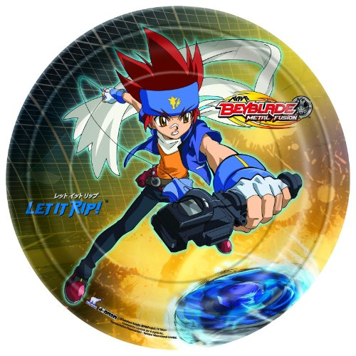 [Beyblade Dinner Plates Party Accessory] (Beyblade Halloween Costumes)