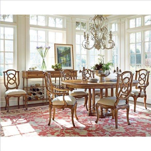Stanley Furniture Arrondissement Tour Marais 7 Piece Dining Set In Sunlight Anigre front-976014