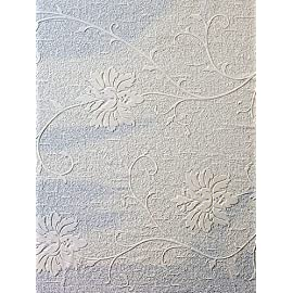 Paintable Wallpaper Large Flower Linen Backround Textured