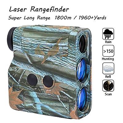 Laser Rangefinder - Yukiss® R11-1960 Super Long Range 7 X 25mm 1-mile Golf Rangefinder with 5 Modes (Scan - Hunting - Relf - Rain - Standard) Best for Hunt Military and Golfer.